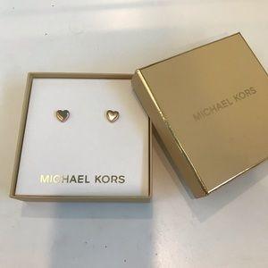 Michael Kors Rose gold heart earrings